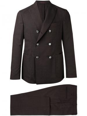 Двубортный костюм The Gigi. Цвет: коричневый