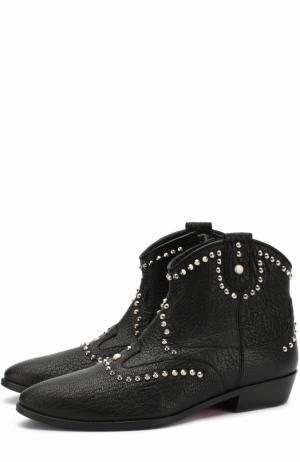 Кожаные ботинки с заклепками Missouri. Цвет: черный