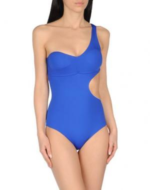 Слитный купальник SAHA. Цвет: ярко-синий