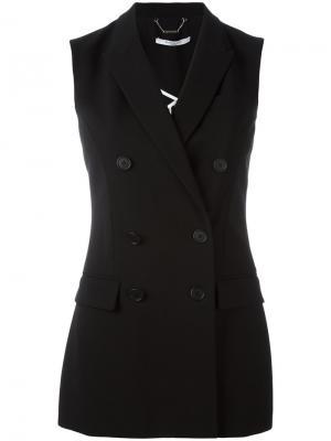 Двубортный блейзер без рукавов Givenchy. Цвет: чёрный
