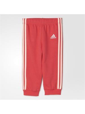 Трикотажные брюки дет. спорт. I FAV KN PANT Adidas. Цвет: розовый