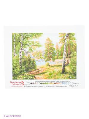 Рисунок на канве Дивная пора Матренин Посад. Цвет: белый, зеленый, желтый