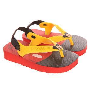 Шлепанцы детские  Disney Classics Red/Yellow/Black Havaianas. Цвет: черный,красный,желтый