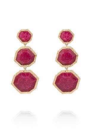 Серьги ISHARYA. Цвет: розовый