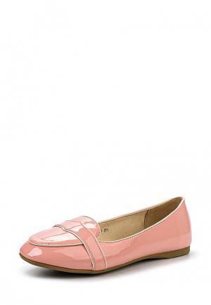 Лоферы Spot On. Цвет: розовый
