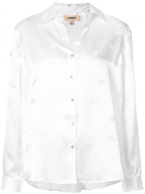 Блузка с принтом Lagence L'agence. Цвет: белый