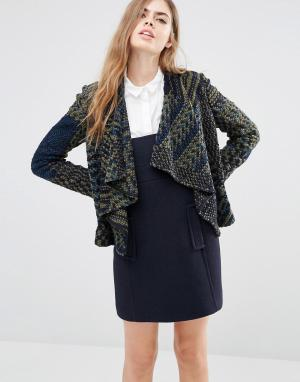 BA&SH Вязаная куртка Ilda. Цвет: зеленый
