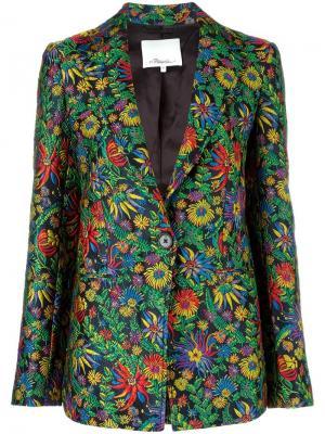 Пиджак с цветочным украшением 3.1 Phillip Lim. Цвет: многоцветный