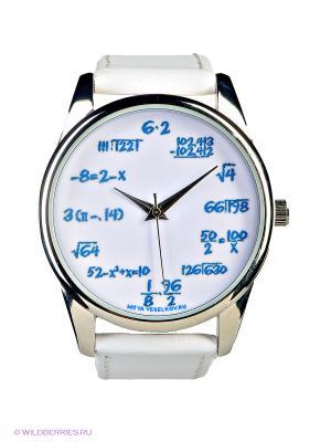 Часы Mitya Veselkov. Цвет: белый, голубой