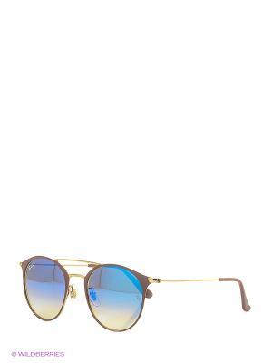 Очки солнцезащитные Ray Ban. Цвет: коричневый, белый