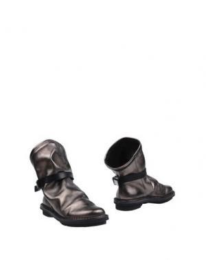 Полусапоги и высокие ботинки TRIPPEN. Цвет: серый