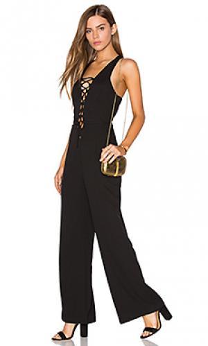 Комбинезон на шнуровке Lucca Couture. Цвет: черный