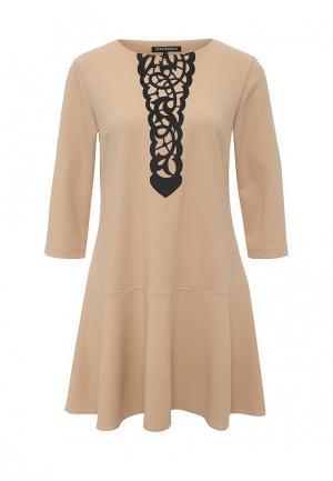 Платье Borodulins Borodulin's. Цвет: бежевый