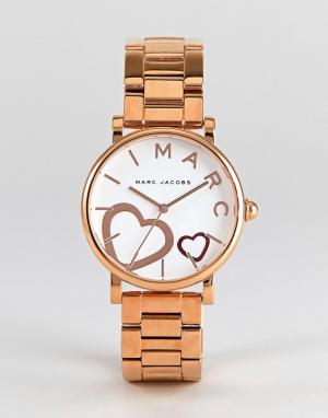 Marc Jacobs Золотисто-розовые классические часы MJ3589. Цвет: золотой