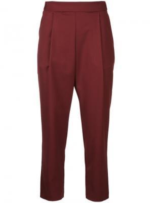 Укороченные брюки Erika Cavallini. Цвет: красный