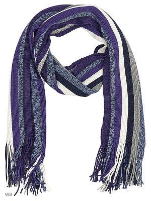 Шарф VICENTE. Цвет: фиолетовый, белый, синий
