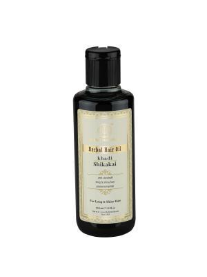 Восстанавливающее масло  Шикакай для сухих волос Khadi Natural. Цвет: темно-зеленый