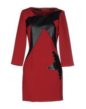 Короткое платье TENAX. Цвет: кирпично-красный