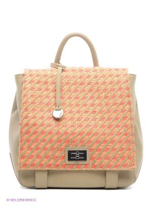Сумка-рюкзак Pola. Цвет: бежевый, оранжевый