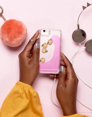 Skinnydip Чехол с жидкостью и персиками для iPhone 6/6S/7/8. Цвет: мульти