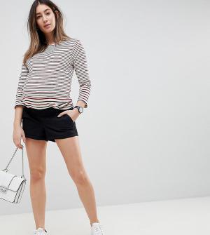 ASOS Maternity Черные шорты чиносы с посадкой под животом DESIGN. Цвет: черный