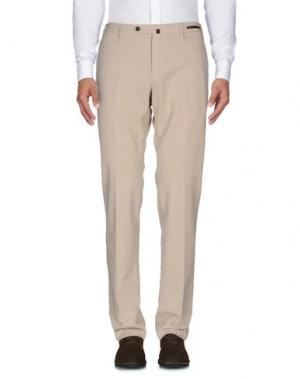 Повседневные брюки PT05. Цвет: бежевый