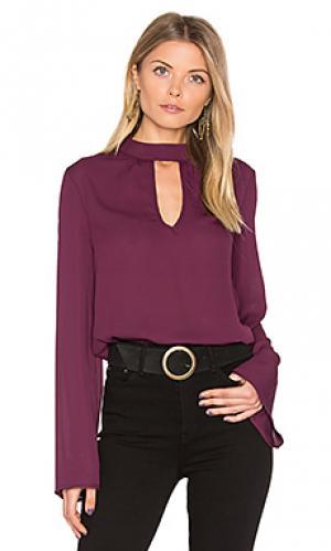 Блуза с высоким воротом Band of Gypsies. Цвет: фиолетовый