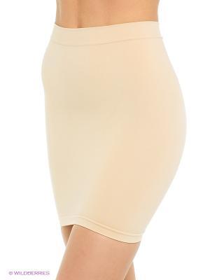 Моделирующая нижняя юбка Controlbody. Цвет: бежевый