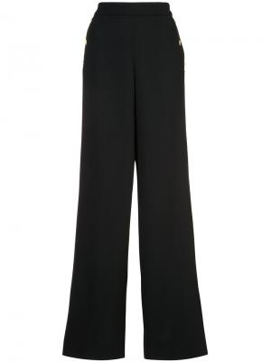 Широкие брюки Edward Achour Paris. Цвет: чёрный