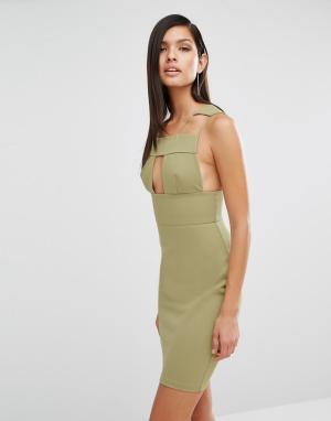 AQ Платье с вырезами AQ/AQ Sibby. Цвет: зеленый