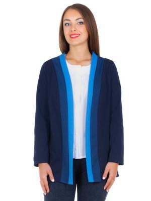 Жакет Faq market. Цвет: темно-синий, синий