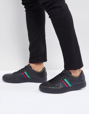 PS Paul Smith Черные кожаные кроссовки Lapin. Цвет: черный