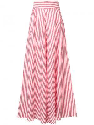 Широкие полосатые брюки Johanna Ortiz. Цвет: красный