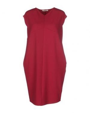 Короткое платье BARBON. Цвет: красно-коричневый