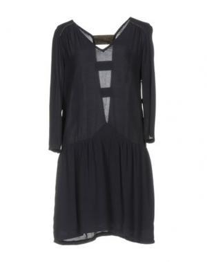 Короткое платье AXARA PARIS. Цвет: темно-синий