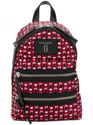 Рюкзак с принтом логотипа Marc Jacobs. Цвет: красный
