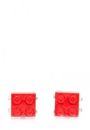 Запонки Churchill accessories. Цвет: красный