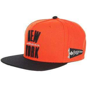 Бейсболка с прямым козырьком  Ny Franchise Snapback Cap Black/Orange K1X. Цвет: черный,оранжевый