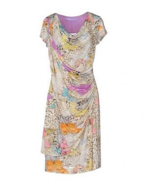 Платье до колена 22 MAGGIO BY MARIA GRAZIA SEVERI. Цвет: бежевый