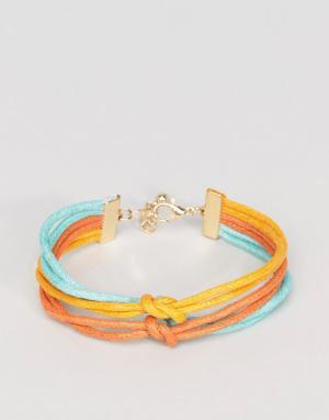 ASOS Тройной браслет (желтый/синевато-зеленый/оранжевый). Цвет: мульти