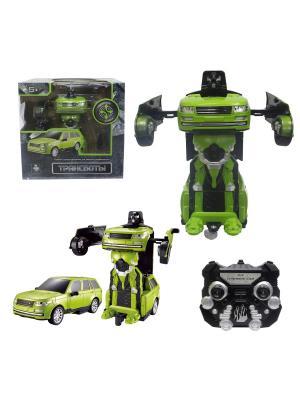 Робот на р/у 2,4GHz, трансформирующийся в джип, зелёный 1Toy. Цвет: серый