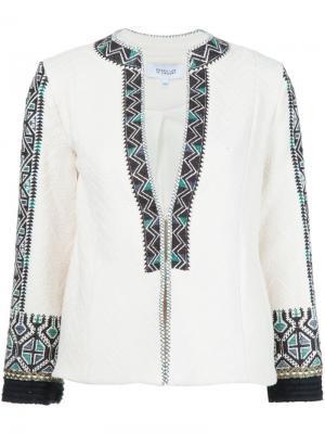 Приталенный пиджак с вышивкой Derek Lam 10 Crosby. Цвет: белый