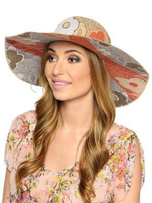 Шляпа FOMAS. Цвет: бежевый, красный
