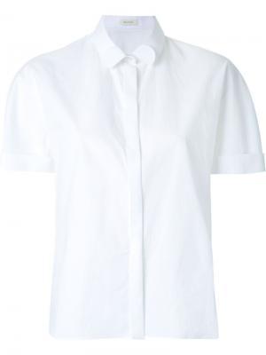 Укороченная рубашка Delpozo. Цвет: белый