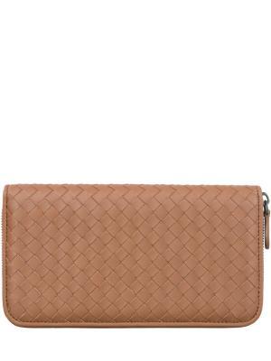 Кожаный кошелек Bottega Veneta. Цвет: коричневый