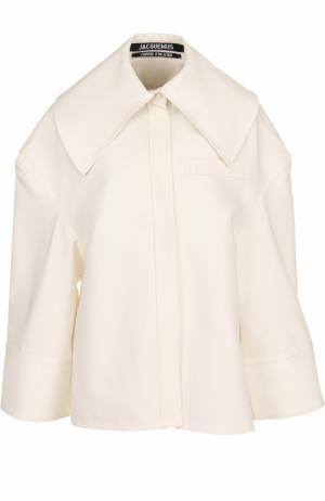 Блуза свободного кроя с отложным воротником Jacquemus. Цвет: кремовый