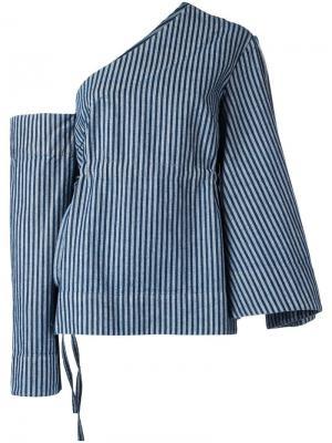 Блузка Tai в полоску Solace. Цвет: синий