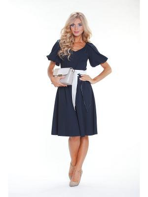 Платье МадаМ Т. Цвет: синий, белый