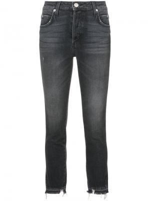 Укороченные джинсы Babe Amo. Цвет: чёрный