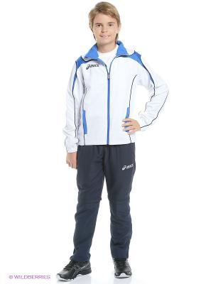 Костюм спортивный детский SUIT WORLD JR ASICS. Цвет: белый, синий